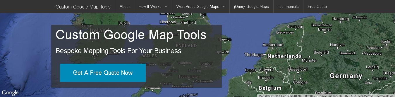 Custom Google Map Tools Website